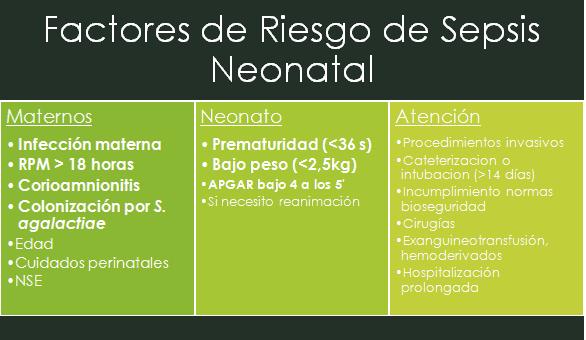 sepsis neonatal temprana